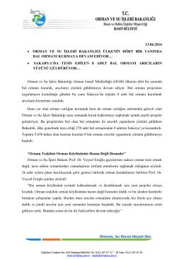 sakarya - Orman ve Su İşleri Bakanlığı