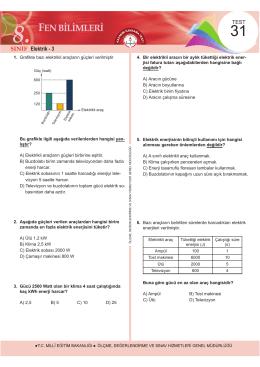 Elektrik - 3 - Ölçme, Değerlendirme ve Sınav Hizmetleri Genel