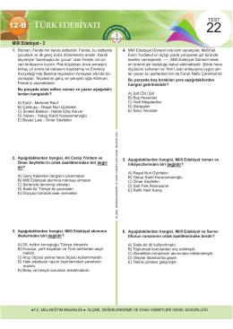 Millî Edebiyat - 3 - Ölçme, Değerlendirme ve Sınav Hizmetleri Genel