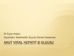 Akut Viral Hepatit B olgusu