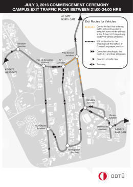 Traffic Flow for Entrances to and Exits from the Campus on the Day
