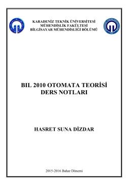 Ders Notları - Karadeniz Teknik Üniversitesi