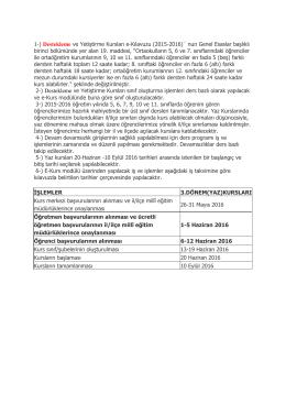 1-) Destekleme ve Yetiştirme Kursları e-Kılavuzu (2015