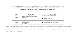 Uzem Tıbbi Dokümantasyon ve Sekreterlik Önlisans Programı Final