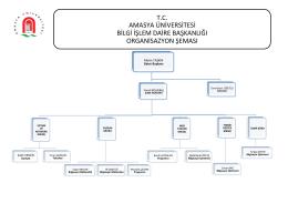 tc amasya üniversitesi bilgi işlem daire başkanlığı organisazyon