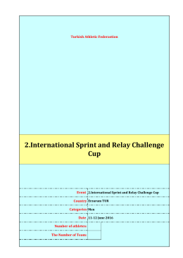 2.International Sprint and Relay Challenge Cup
