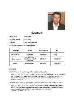özgeçmiş - Beykent Üniversitesi