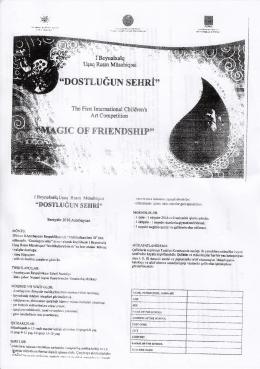 1. Uluslararası Çocuk Resim Yarışması