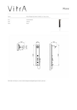Tanım Move Masajlı Duş Sistemi 140x25 cm, Koyu Ceviz Kod