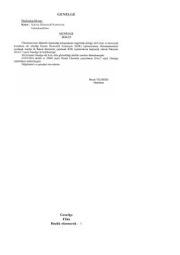 Karma Ekonomik Komisyon Eşbaşkanlıkları ile İlgili