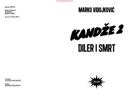 Marko Vidojković – Kandže 2 -Diler i smrt