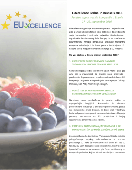EUxcellence Serbia in Brussels 2016