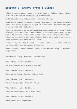 Nevreme u Pančevu (foto i video),Proverite očni pritisak