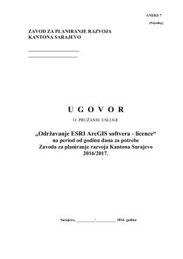 ugovor - Zavod za planiranje razvoja Kantona Sarajevo