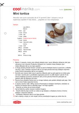 Mini tortice - Coolinarika