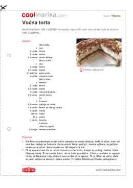 Voæna torta - Coolinarika