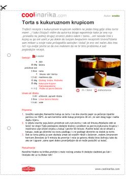 Torta s kukuruznom krupicom