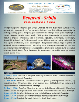 Beograd Jun 2016 - Med travel agency