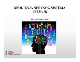 Vežbe - Neurologija 3 - Fakultet veterinarske medicine Beograd