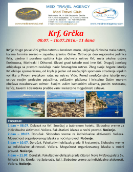 Krf Jul 2016 - Med travel agency