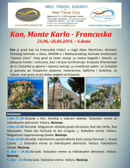 Kan Jun 2016 - Med travel agency