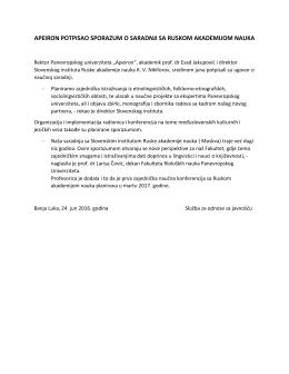 apeiron potpisao sporazum o saradnji sa ruskom akademijom nauka
