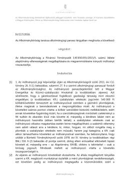 IV/117/2016. Az Alkotmánybíróság tanácsa alkotmányjogi panasz