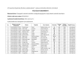 pályázati eredményt - Prosperitati Alapítvány