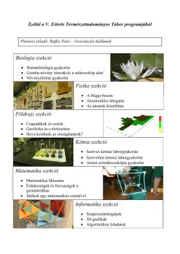 Program - Eötvös Természettudományos