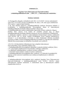 INDOKOLÁS Nagykáta Város Önkormányzata Képviselő
