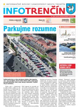 Info - parkovanie
