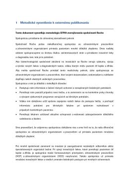 Roche Slovensko lokálna metodológia aplikácie EFPIA Etického
