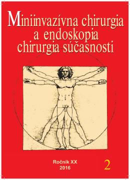 Ročník XX 2016 - Laparoskopia & Endoskopia