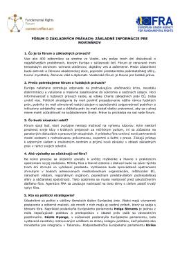 fórum o základných právach: základné