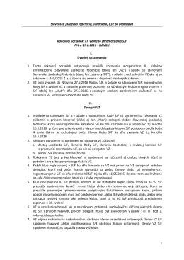 Návrh Rokovacieho poriadku - Slovenská jazdecká federácia