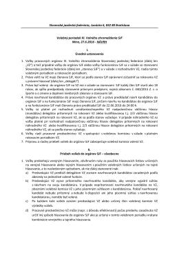 Návrh Volebného poriadku - Slovenská jazdecká federácia