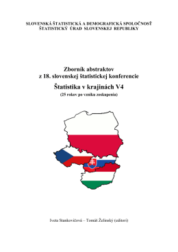 Zborník abstraktov z 18. Slovenskej štatistickej konferencie