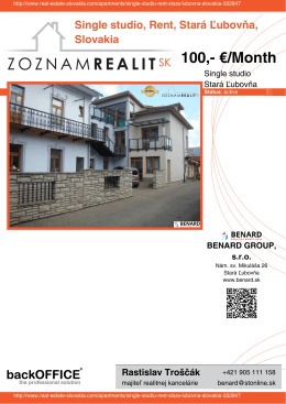 Print - Real Estate Slovakia