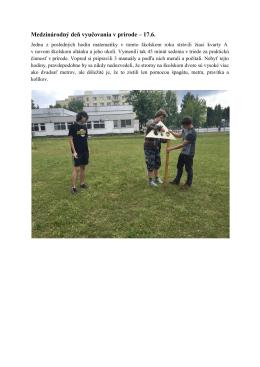 Medzinárodný deň vyučovania v prírode – 17.6.