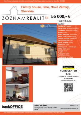 55 000 - Real Estate Slovakia