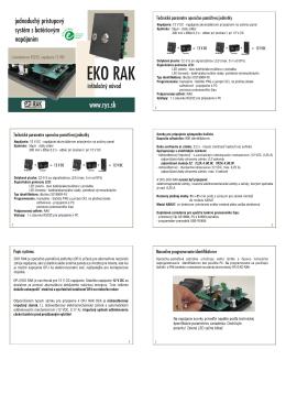 EKO RAK RS232 - inštalačný manuál