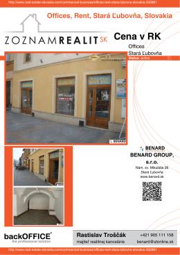Cena v RK - Real Estate Slovakia