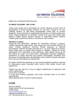 Değerli Kamu Hastaneleri Birliği Personeli, OLYMPOS