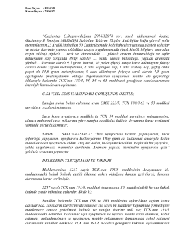 """""""Gaziantep C.Başsavcılığının 2016/12878 sor. sayılı iddianamesi"""