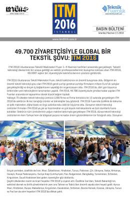 Teknik 49.730 ZİYARETÇİSİYLE GLOBAL BİR TEKSTİL