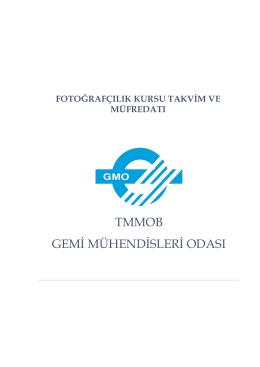 Fotoğrafçılık Kursu Takvim ve müfredatı