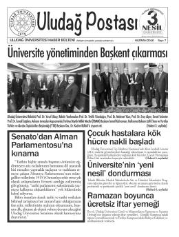 Uludağ Postası 7. sayı (Haziran 2016)