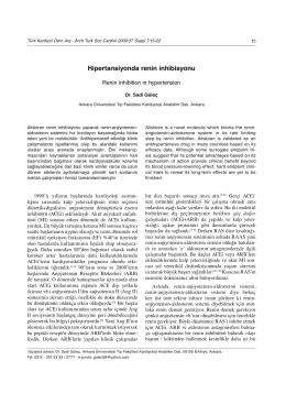 Hipertansiyonda renin inhibisyonu