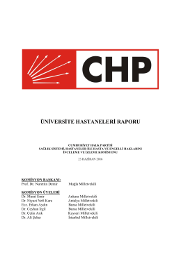 üniversite hastaneleri raporu
