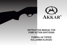 AKKAR Pump Shotgun Part Diagram 20ga & 28ga